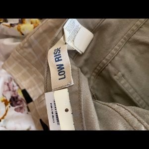 Low Rise Boot Cut Khaki's